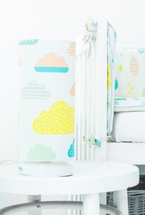 Nachttischlampe Pastell Wolken
