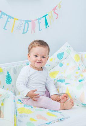 Bettwäsche-Set für Kinder mit Füllung Pastell Tropfen