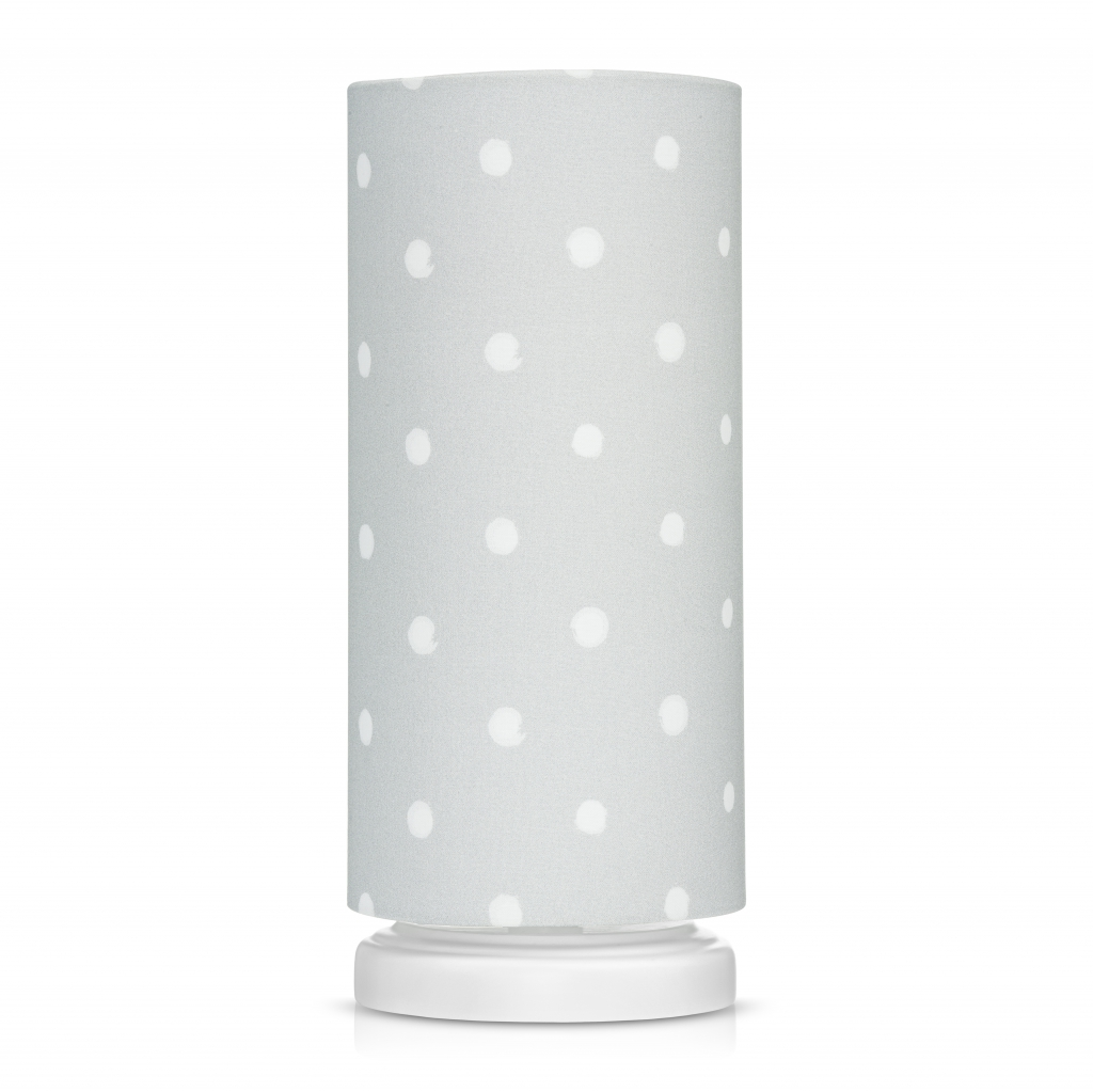 nachttischlampe lovely dots grau lampen. Black Bedroom Furniture Sets. Home Design Ideas