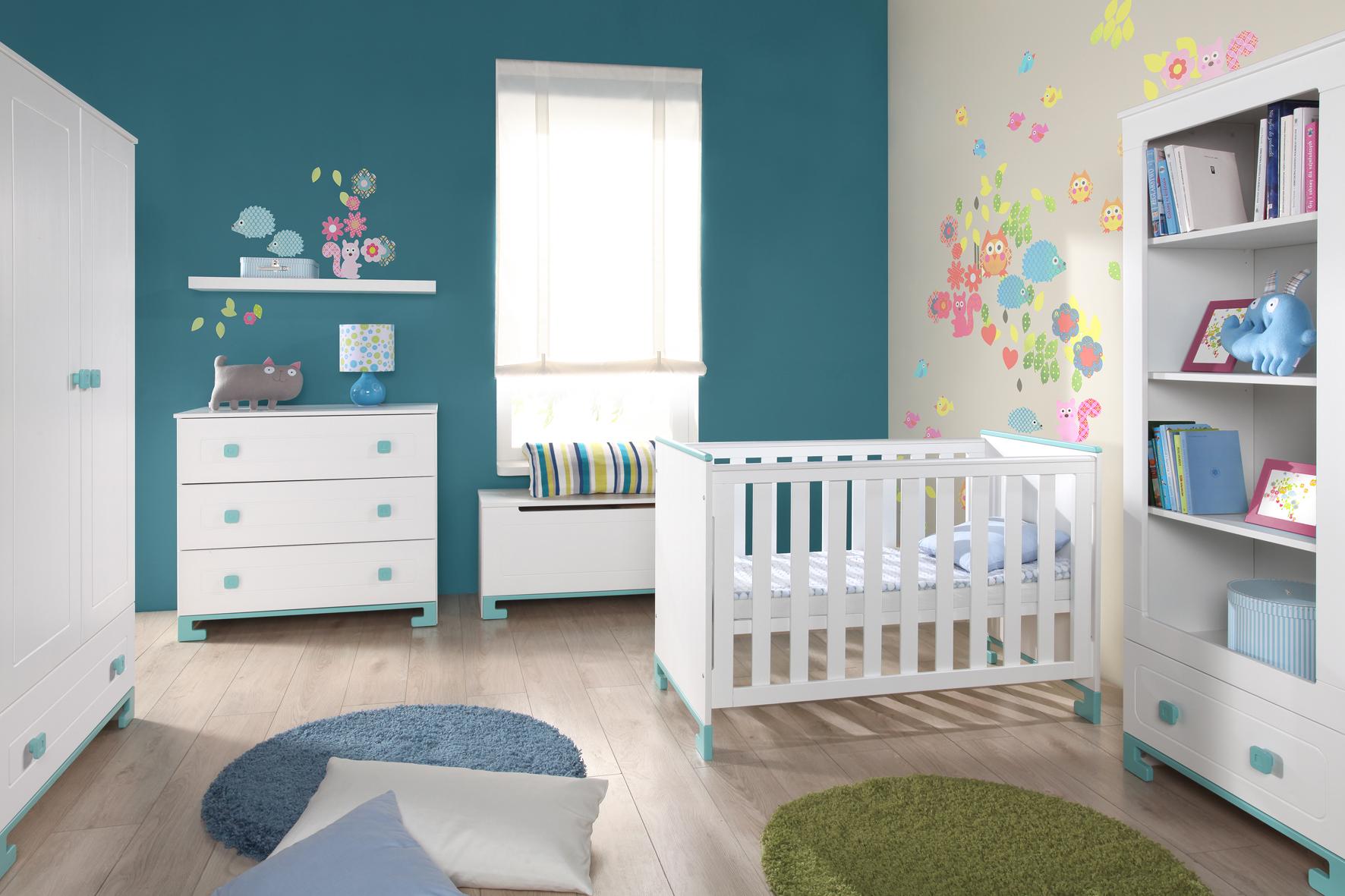 babybett toto 120x60 cm rosa oder t rkis lampen und leuchten online. Black Bedroom Furniture Sets. Home Design Ideas