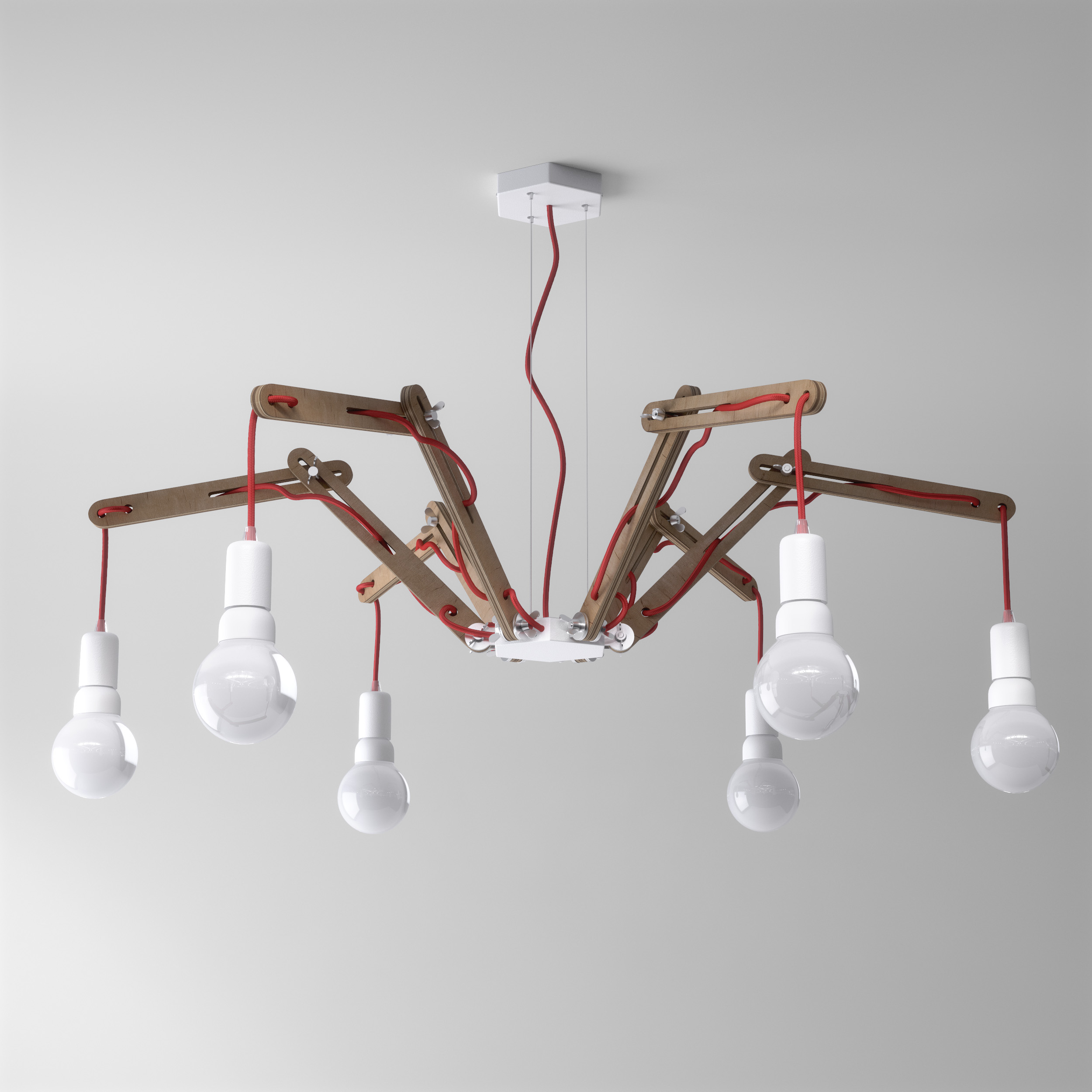 moderne h ngeleuchte spider im vintage stil. Black Bedroom Furniture Sets. Home Design Ideas