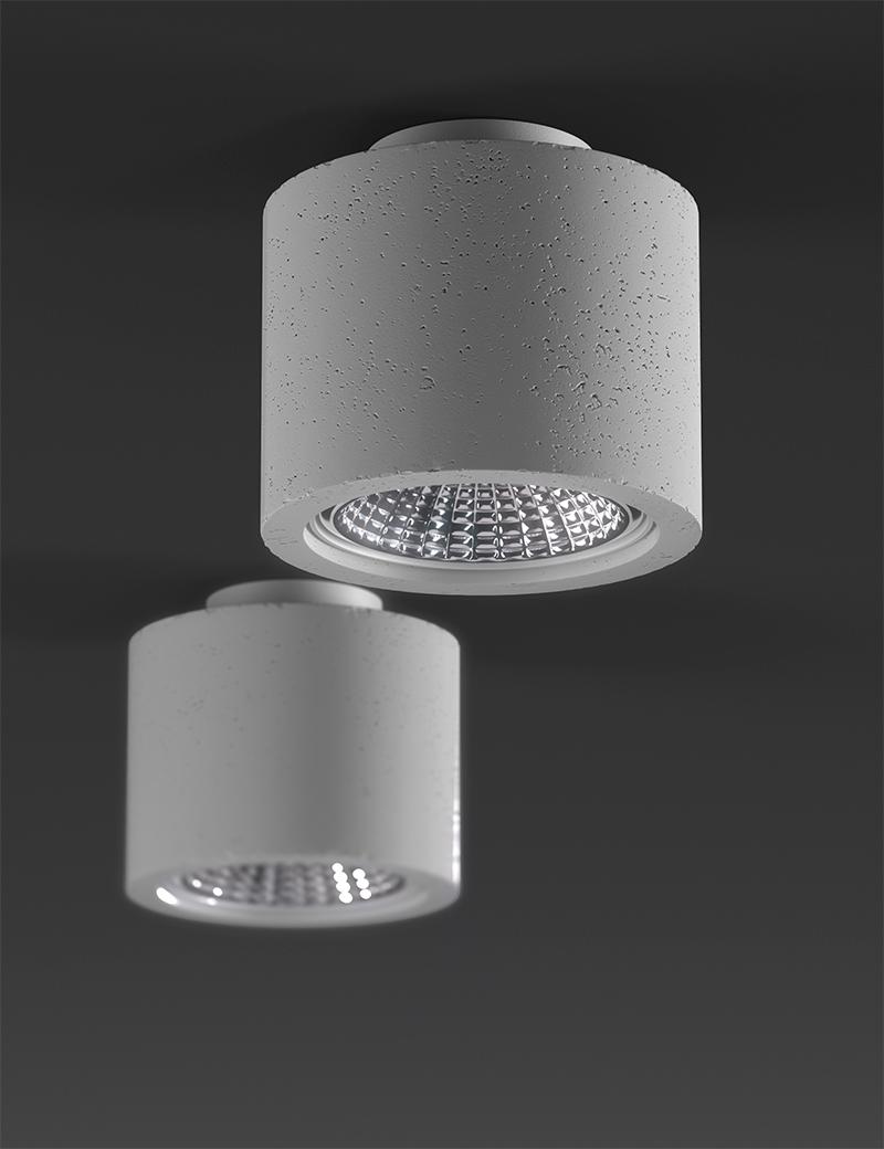 beton deckenleuchte monax lampen und. Black Bedroom Furniture Sets. Home Design Ideas