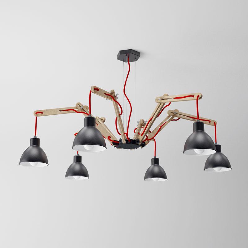 moderne h ngeleuchte spider im industriedesign dslampen. Black Bedroom Furniture Sets. Home Design Ideas