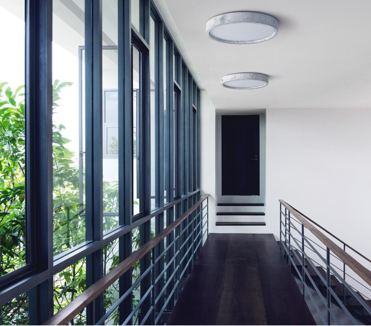 beton deckenleuchte omega led lampen und. Black Bedroom Furniture Sets. Home Design Ideas