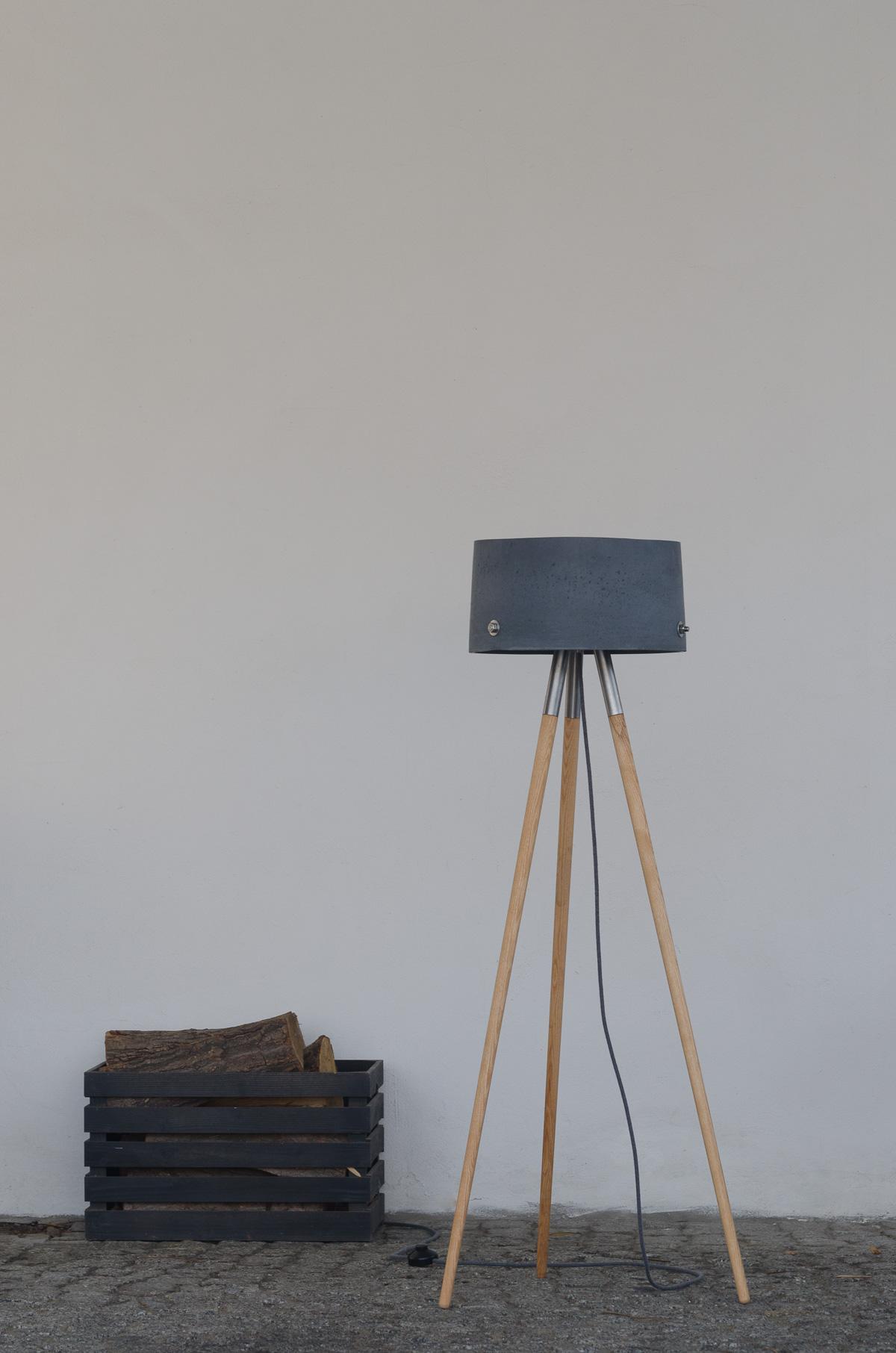 Berühmt Beton-Stehlampe Talma - DSLampen.at - Lampen und Leuchten Online @PG_28