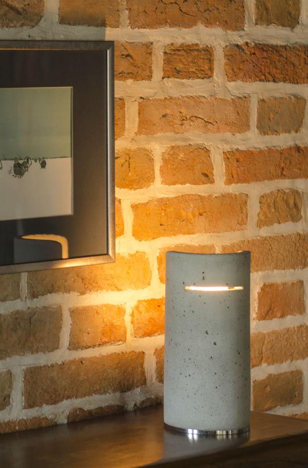 beton tischlampe omo lampen und leuchten. Black Bedroom Furniture Sets. Home Design Ideas