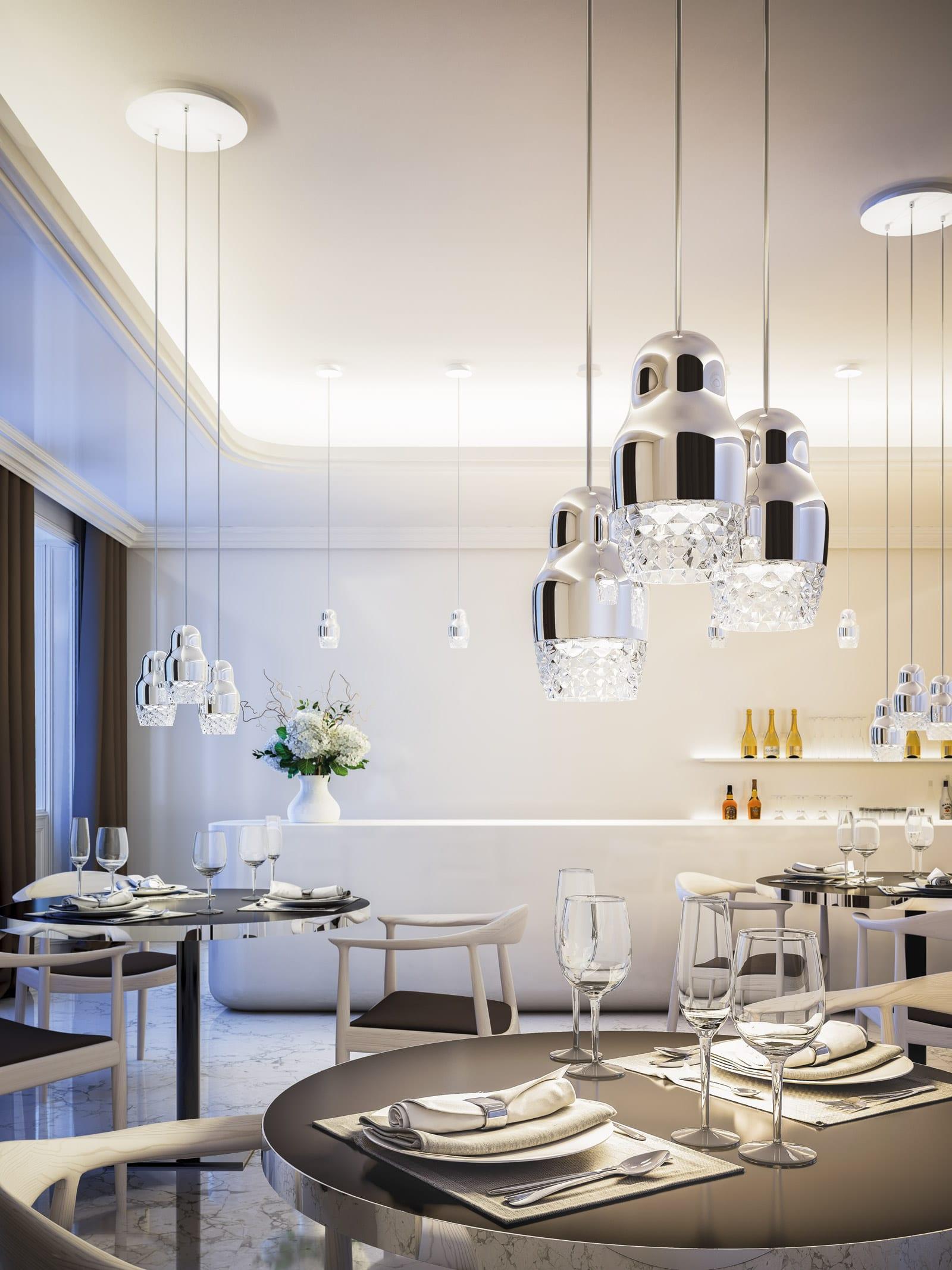 Die originelle Design Lampen von Axo Light bringen den Raum einen stilvollen Charakter