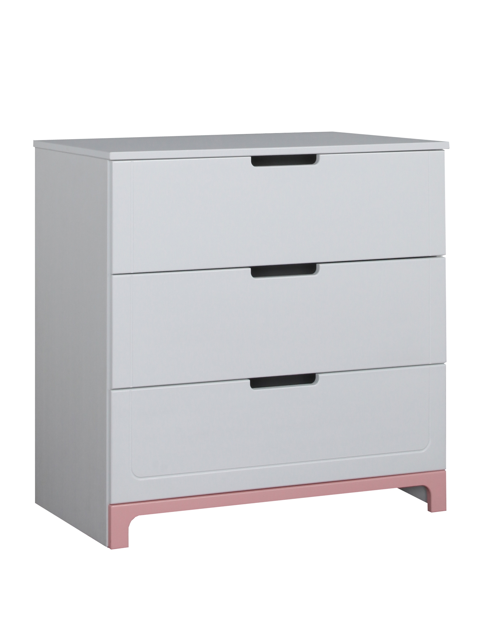kommode mini 3 schubladen rosa oder grau. Black Bedroom Furniture Sets. Home Design Ideas