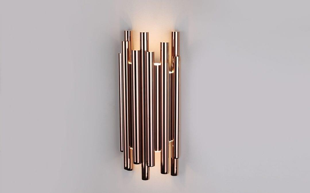 Wandleuchte-LED ORGANIC Kupfer
