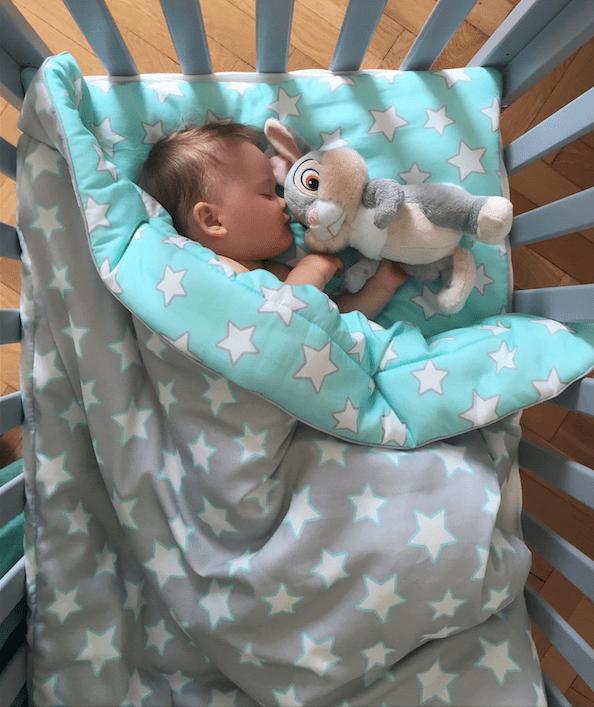 Bettwäsche-Set für Kinder mit Füllung MINT & GREY STARS
