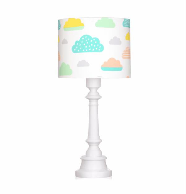 Tischlampe Pastell Wolken