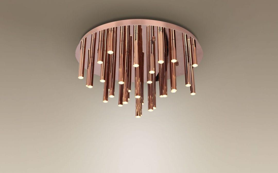 Deckenleuchte-LED ORGANIC Kupfer