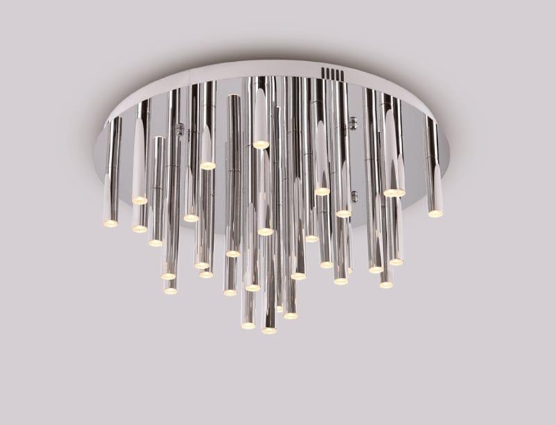 Deckenleuchte-LED ORGANIC Chrom