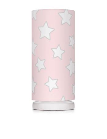 Nachttischlampe Pink Stars