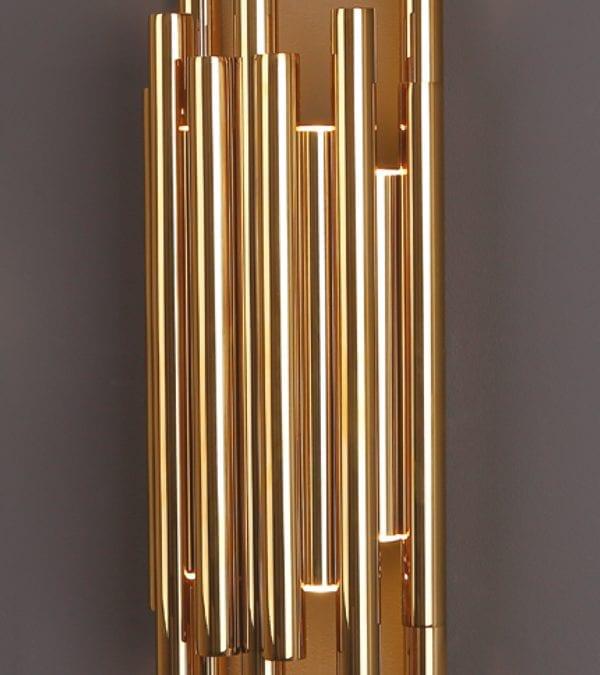 Wandleuchte-LED ORGANIC Gold
